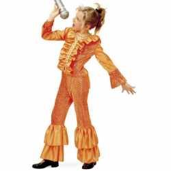Oranje glitter pak meisjes
